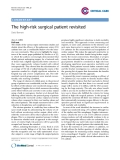 """Báo cáo y học: """"The high-risk surgical patient revisited"""""""
