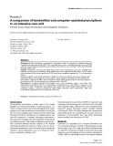 """Báo cáo y học: """"A comparison of handwritten and computer-assisted prescriptions in an intensive care unit"""""""