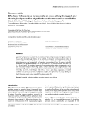 """Báo cáo y học: """"Effects of intravenous furosemide on mucociliary transport and rheological properties of patients under mechanical ventilation"""""""