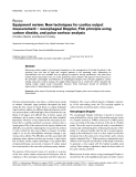 """Báo cáo y học: """"Equipment review: New techniques for cardiac output measurement – oesophageal Doppler, Fick principle using carbon dioxide, and pulse contour analysis"""""""