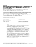 """Báo cáo y học: """"External validation of a modified model of Acute Physiology and Chronic Health Evaluation (APACHE) II for orthotopic liver transplant patients"""""""