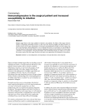 """Báo cáo y học: """"Immunodepression in the surgical patient and increased susceptibility to infection"""""""