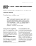 """Báo cáo y học: """"Endotoxemia in critically ill patients: why a reliable test could be beneficial"""""""