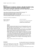 """Báo cáo y học: """"Measurement of endotoxin activity in critically ill patients using whole blood neutrophil dependent chemiluminescence"""""""