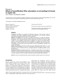 """Báo cáo y học: """"Effect of hemofiltration filter adsorption on circulating IL-6 levels in septic rats"""""""