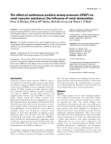 """Báo cáo y học: """"The effect of continuous positive airway pressure (CPAP) on renal vascular resistance: the influence of renal denervation"""""""