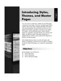 Giới thiệu phong cách, Giao diện, và Master Pages
