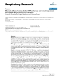 "Báo cáo y học: "" Biphasic effect of extracellular ATP on human and rat airways is due to multiple P2 purinoceptor activation"""
