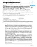 "Báo cáo y học: "" The safety and efficacy of inhaled dry powder mannitol as a bronchial provocation test for airway """