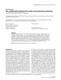 """Báo cáo y học: """"The relationship between FV Leiden and pulmonary embolism"""""""
