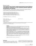 Báo cáo y học: The predictive role of serum and bronchoalveolar lavage cytokines and adhesion molecules for acute respiratory distress syndrome development and outcome