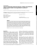 """Báo cáo y học: """" Chronic obstructive pulmonary disease, asthma and protective effects of food intake: from hypothesis to evidence?"""""""