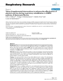 """Báo cáo y học: """"Value of supplemental interventions to enhance the effectiveness of physical exercise during respiratory rehabilitation in COPD patients"""""""