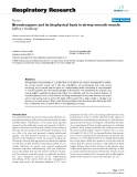 """Báo cáo y học: """"Bronchospasm and its biophysical basis in airway smooth muscle"""""""