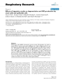 """Báo cáo y học: """"Effects of cigarette smoke on degranulation and NO production by mast cells and epithelial cells"""""""