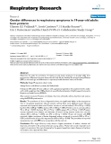 """Báo cáo y học: """"Gender differences in respiratory symptoms in 19-year-old adults born preterm"""""""