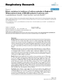 """Báo cáo y học: """" Ethnic variations in incidence of asthma episodes in England & Wales:national study of 502,482 patients in primary care"""""""
