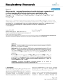 """Báo cáo y học: """"Atorvastatin reduces lipopolysaccharide-induced expression of cyclooxygenase-2 in human pulmonary epithelial cells"""""""