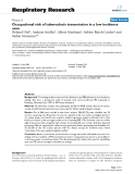 """Báo cáo y học: """" Occupational risk of tuberculosis transmission in a low incidence area"""""""