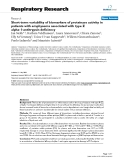 """Báo cáo y học: """" Short-term variability of biomarkers of proteinase activity in patients with emphysema associated with type Z alpha-1-antitrypsin deficiency"""""""