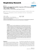 """Báo cáo y học: """"Relation of exaggerated cytokine responses of CF airway epithelial cells to PAO1 adherence"""""""