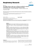"""Báo cáo y học: """"The effect of prior statin use on 30-day mortality for patients hospitalized with community-acquired pneumonia"""""""