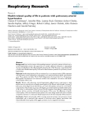 """Báo cáo y học: """" Health-related quality of life in patients with pulmonary arterial hypertension"""""""