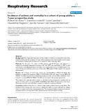 """Báo cáo y học: """"Incidence of asthma and mortality in a cohort of young adults: a 7-year prospective study"""""""