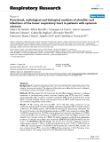 """Báo cáo y học: """"Functional, radiological and biological markers of alveolitis and infections of the lower respiratory tract in patients with systemic sclerosis"""""""