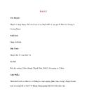Lý thuyết Kinh mạch và Huyệt đạo: ĐẠI CỰ