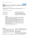 """Báo cáo y học: """"Bovine colostrum in oral treatment of enterogenic endotoxaemia in rats"""""""