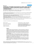 """Báo cáo y học: """"Comparison of bedside measurement of cardiac output with the thermodilution method and the Fick method in mechanically ventilated patients"""""""