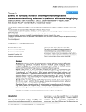 """Báo cáo y học: """"Effects of contrast material on computed tomographic measurements of lung volumes in patients with acute lung injury"""""""