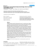 """Báo cáo y học: """"Esophageal capnometry during hemorrhagic shock and after resuscitation in rats"""""""