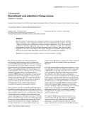 """Báo cáo y học: """" Recruitment and retention of lung volume"""""""