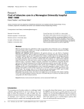 """Báo cáo y học: """"Cost of intensive care in a Norwegian University hospital 1997–1999"""""""