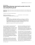 """Báo cáo y học: """"Beyond ethical dilemmas: improving the quality of end-of-life care in the intensive care unit"""""""