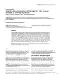 """Báo cáo y học: """" Selective decontamination of the digestive tract reduces mortality in critically ill patients"""""""