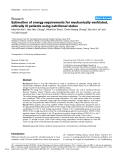 """Báo cáo khoa học: """"Estimation of energy requirements for mechanically ventilated, critically ill patients using nutritional status"""""""