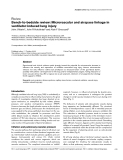"""Báo cáo khoa học: """"Bench-to-bedside review: Microvascular and airspace linkage in ventilator-induced lung injury"""""""