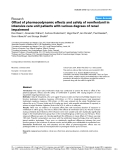 """Báo cáo khoa học: """"Offset of pharmacodynamic effects and safety of remifentanil in intensive care unit patients with various degrees of renal impairment"""""""