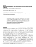 """Báo cáo khoa học: """"Nosocomial infections and immunity: lesson from brain-injured patients"""""""