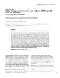 """Báo cáo khoa học: """" Blood management in intensive care medicine: CRIT and ABC — what can we learn"""""""
