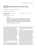 """Báo cáo khoa học: """" Insulin and metabolic substrates during human sepsis"""""""