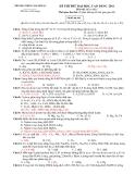 ĐỀ THI THỬ ĐẠI HỌC, CAO ĐẲNG 2011 Môn thi: HÓA HỌC