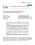 """Báo cáo y học: """"In vitro and in vivo evaluation of a new active heat moisture exchange"""""""