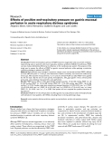 """Báo cáo y học: """"Effects of positive end-expiratory pressure on gastric mucosal perfusion in acute respiratory distress syndrome"""""""