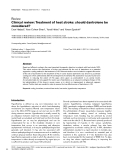 """Báo cáo y học: """"Clinical review: Treatment of heat stroke: should dantrolene be considered"""""""