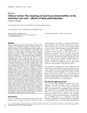 """Báo cáo y học: """"Clinical review: The meaning of acid–base abnormalities in the intensive care unit – effects of fluid administration"""""""