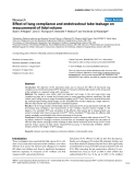 """Báo cáo y học: """"Effect of lung compliance and endotracheal tube leakage on measurement of tidal volume"""""""